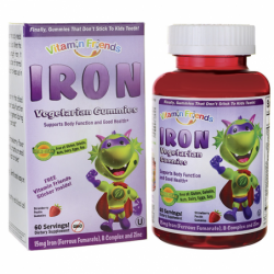 Iron Ferrous Fumarate  Strawberry Pectin, 15 mg 60 Gummies