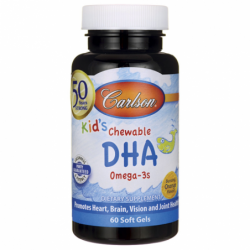 Kids Chewable DHA Omega3s  Bursting Orange, 100 mg 60 Sgels