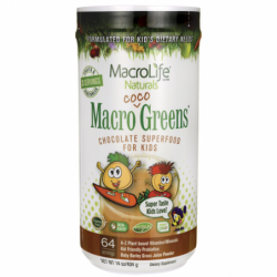 Macro Coco Greens Chocolate Superfood for Kids, 14 oz (404 grams) Pwdr