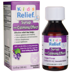 Kids Relief Syrup With Calming Effect  Grape Flavor, 3.4 fl oz (100 mL) Liquid
