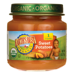 Organic Baby Food Stage 1  Sweet Potatoes, 2.5 oz (71 grams) Jar