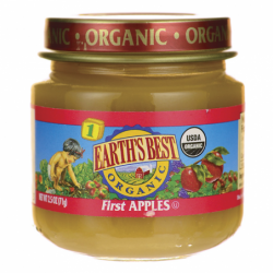 Organic Baby Food First Apples Stage 1, 2.5 oz Jar