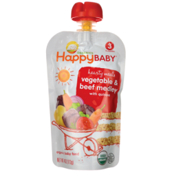 Organic Baby Food  Vegetable & Beef Medley with Quinoa, 4 oz (113 grams) Pkg