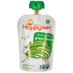 Organic Baby Food  Green Beans, 3.5 oz (99 grams) Pkg