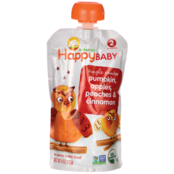 Organic Baby Food  Pumpkin, Apples, Peaches & Cinnamon, 4 oz (113 grams) Pkg