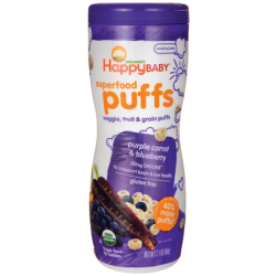 Organic Superfood Puffs  Purple Carrot & Blueberry, 2.1 oz (60 grams) Pkg