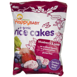 Organic Rice Cakes  Blueberry & Beet, 1.4 oz (40 grams) Pkg
