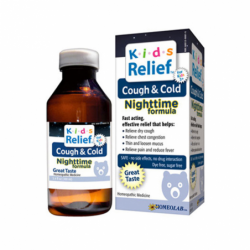Kids Relief Cough & Cold Nighttime Formula, 3.4 fl oz (100 mL) Liquid