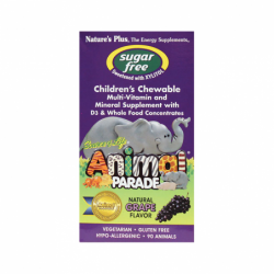Animal Parade Sugar Free MultiVitamin & Mineral  Grape, 90 Chwbls