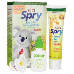 Kids Spry Tooth Gel with Xylitol Combo Pack, 1 Kit