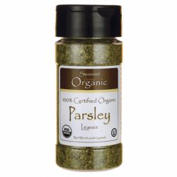 100 Certified Organic Parsley Leaves, 0.5 oz (14.2 grams) Flakes