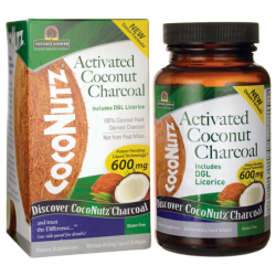 CocoNutz Activated Coconut Charcoal, 60 Sgels