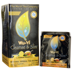 WuYi Cleanse & Slim Tea Lemon Honey, 25 Bag(s)