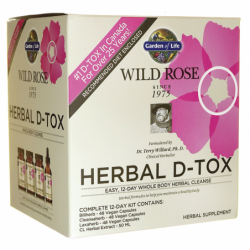 Wild Rose Herbal DTox Whole Body Cleanse 12Day Kit, 1 Kit