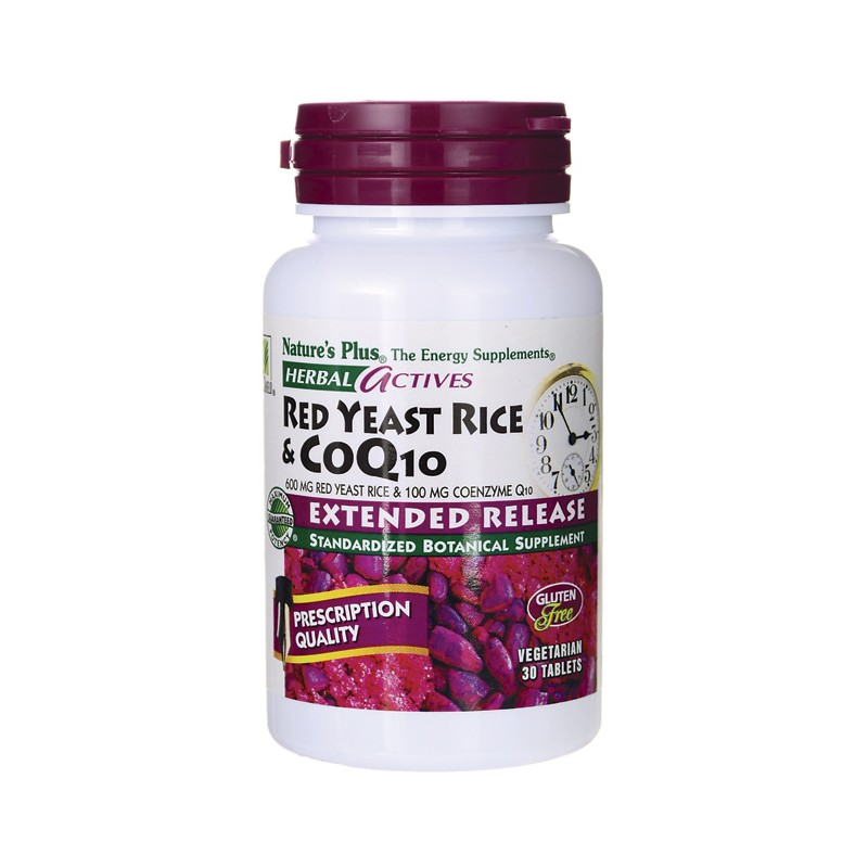Herbal Actives Red Yeast Rice & CoQ10, 30 Veg Tabs