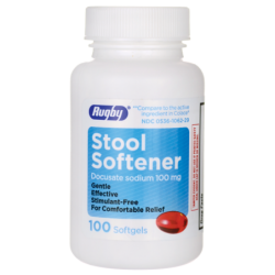Stool Softener Docusate Sodium, 100 mg 100 Sgels