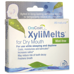 XyliMelts for Dry Mouth  MintFree, 40 Ct