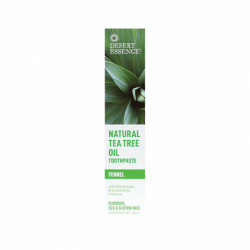 Natural Tea Tree Oil Toothpaste  Fennel, 6.25 oz (176 grams) Paste