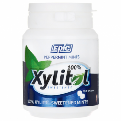 Xylitol Sweetened Peppermint Mints, 180 Ct