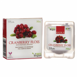 Cranberry Floss with Natural Xylitol, 55 Yards