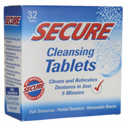 Secure Cleansing Tablets, 32 Tabs