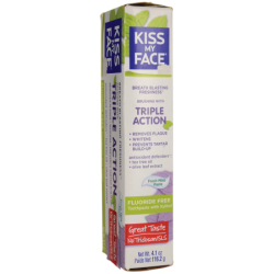 Triple Action Toothpaste Fluoride Free  Fresh Mint Paste, 4.5 oz Paste