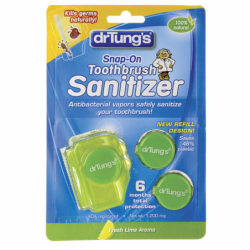 SnapOn Toothbrush Sanitizer, 2 Ct