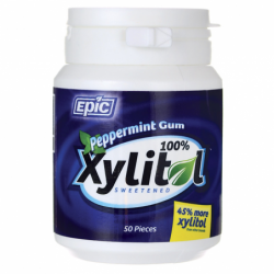 Xylitol Sweetened Peppermint Gum, 50 Ct