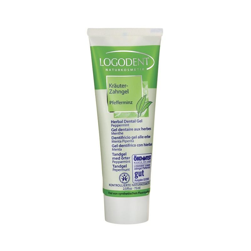 Logodent Herbal Dental Gel  Peppermint, 2.5 fl oz Gel