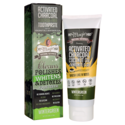 Activated Charcoal Toothpaste  Wintergreen, 4 oz (113 grams) Paste