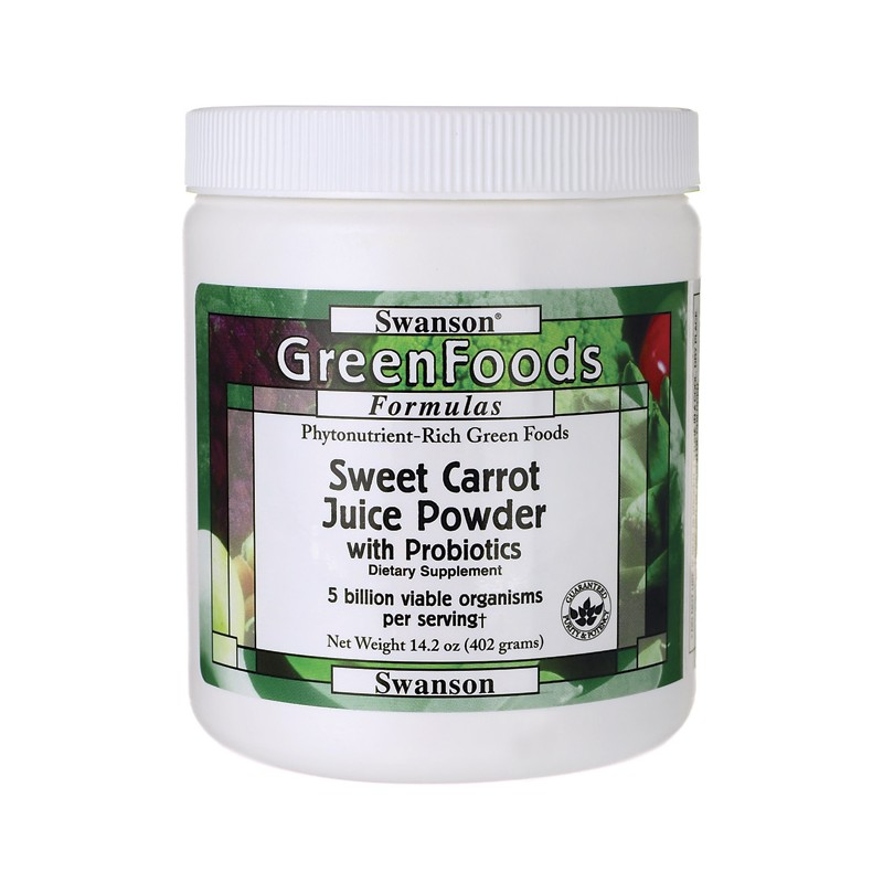 Sweet Carrot Juice Powder with Probiotics, 14.2 oz (402 grams) Pwdr