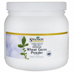100 Pure Defatted Wheat Germ Powder NonGMO, 1 lb (454 grams) Pwdr
