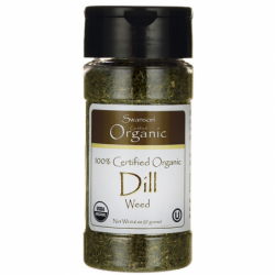 100 Certified Organic Dill Weed, 0.6 oz (17 grams) Flakes