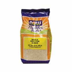 Whole Psyllium Husks, 16 oz (454 grams) Pkg