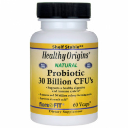 Natural Probiotic 30 Billion CFUs, 60 Vcaps
