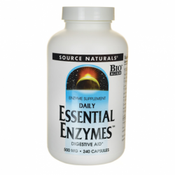 Daily Essential Enzymes, 500 mg 240 Caps