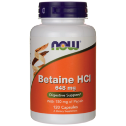 Betaine HCl, 120 Caps
