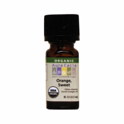 Organic Essential Oil Orange, Sweet, 0.25 fl oz Liquid