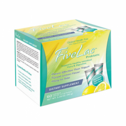 FiveLac Probiotic Natural Lemon Flavor, 60 Ct