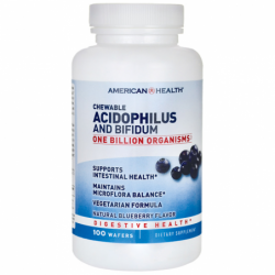 Chewable Acidophilus and Bifidum Blueberry Flavor, 100 Wafers