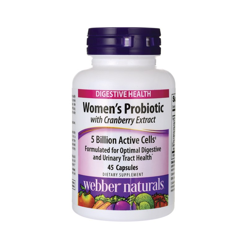 Womens Probiotic with Cranberry Extract, 45 Caps