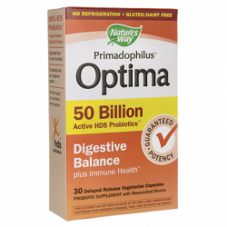 Primadophilus Optima Digestive Balance, 50 Billion CFU 30 Veg Caps