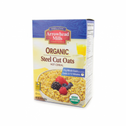 Organic Steel Cut Oats, 24 oz Pkg