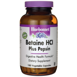 Betaine HCl Plus Pepsin, 180 Veg Caps