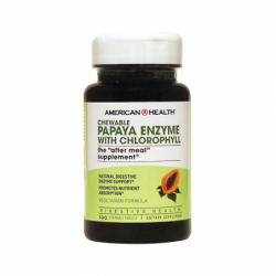 Chewable Papaya Enzyme with Chlorophyll, 100 Chwbls