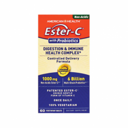 EsterC with Probiotics, 1,000 mg 60 Veg Tabs