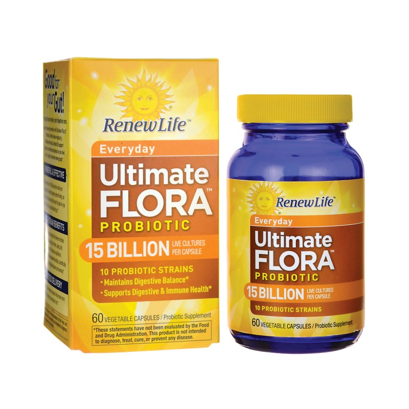 Everyday Ultimate Flora Probiotic  15 Billion, 60 Veg Caps