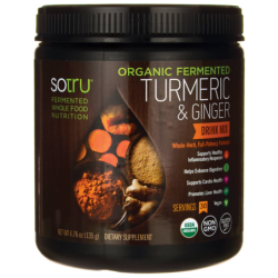 Organic Fermented Turmeric & Ginger Drink Mix, 4.76 oz (135 grams) Pwdr