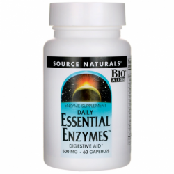 Daily Essential Enzymes, 500 mg 60 Caps