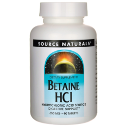 Betaine HCl, 650 mg 90 Tabs